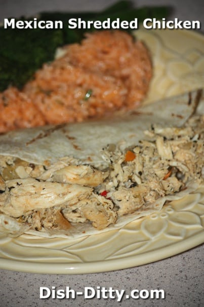 Mexican Shredded Chicken by Dish Ditty Recipes
