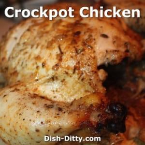 Crockpot Roasted Whole Chicken