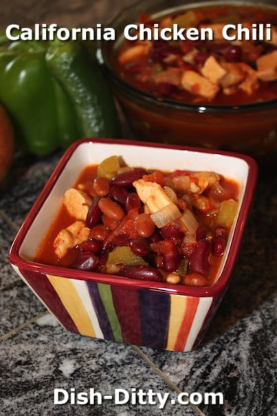 Judy's California Chicken Chili by Dish Ditty Recipes