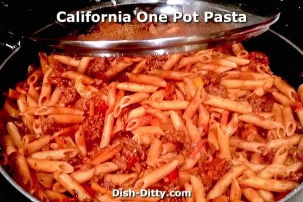 California One Pot Pasta by Dish Ditty Recipes