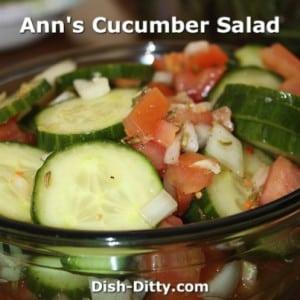 Ann's Cucumber Salad
