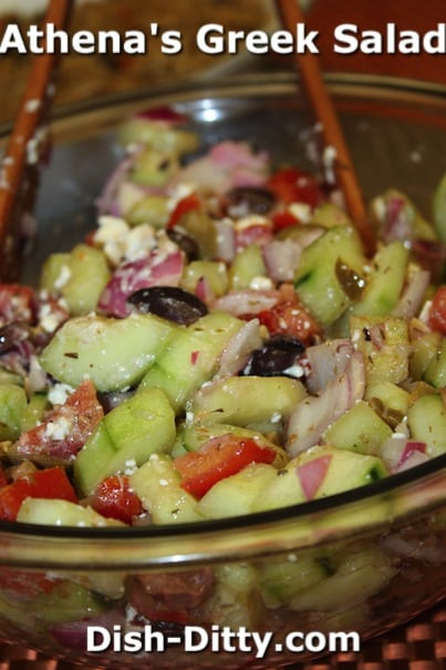 Athena's Greek Salad by Dish Ditty Recipes