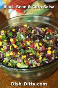 Black Bean & Corn Salsa by Dish Ditty Recipes