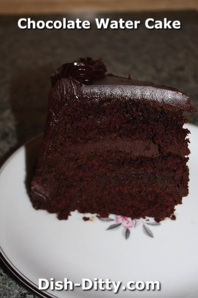 Chocolate Water Cake by Dish Ditty Recipes