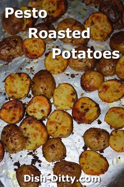 Pesto Roasted Potatoes by Dish Ditty Recipes