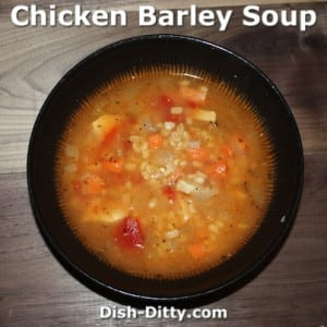 Chicken Tomato Barley Soup