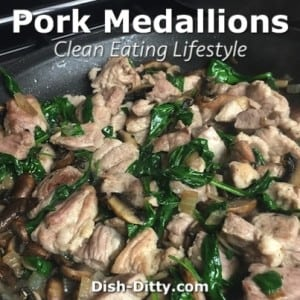 Pork Medallions with Spinach & Mushrooms