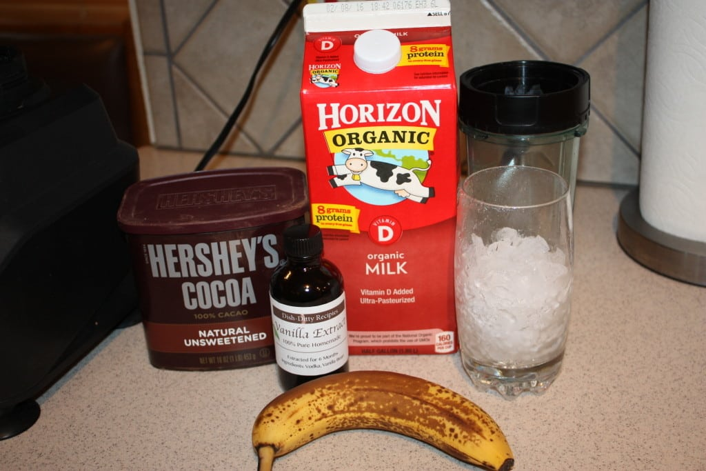 Chocolate Banana Shake Ingredients