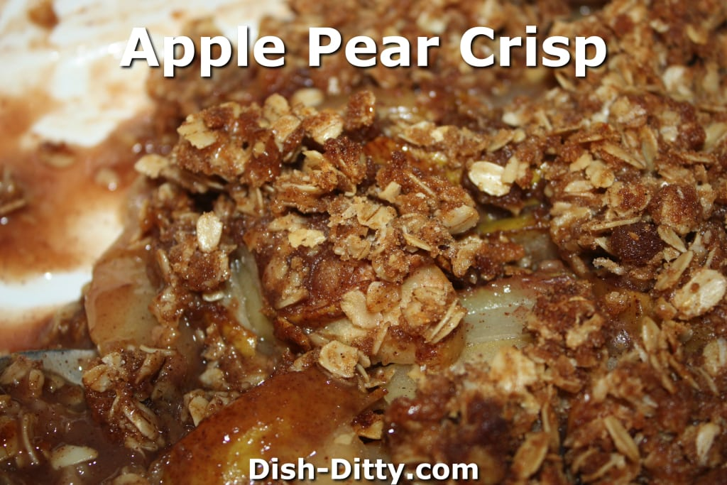 Apple Pear Crisp by Dish Ditty Recipes