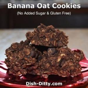 Chocolate Banana Oat (No Sugar Added) Cookies