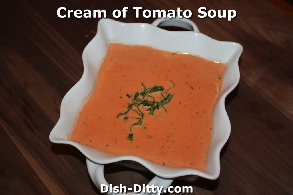 Cream of Tomato Soup by Dish Ditty Recipes
