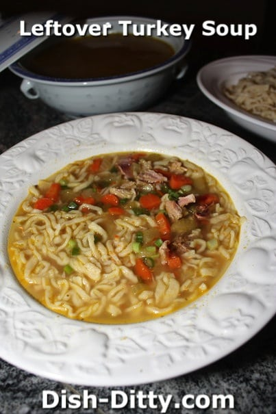 Leftover Turkey Soup by Dish Ditty Recipes