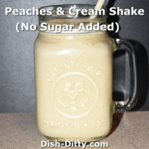 Peaches & Cream Shake (No Sugar Added)