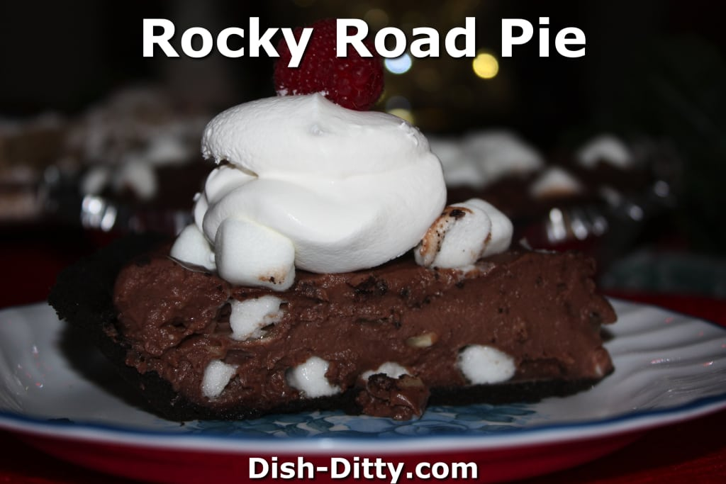 Rocky Road Pudding Pie by Dish Ditty Recipes