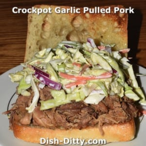Crockpot Garlic Pulled Pork