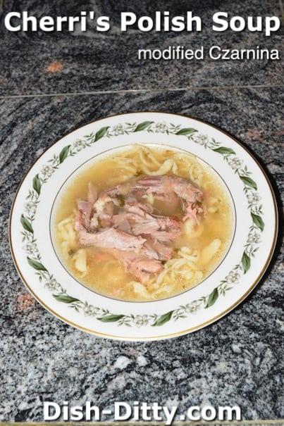 Cherri's Polish Soup (modified Czarnina) by Dish Ditty Recipes