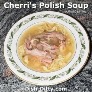 Polish Soup (modified Czarnina)