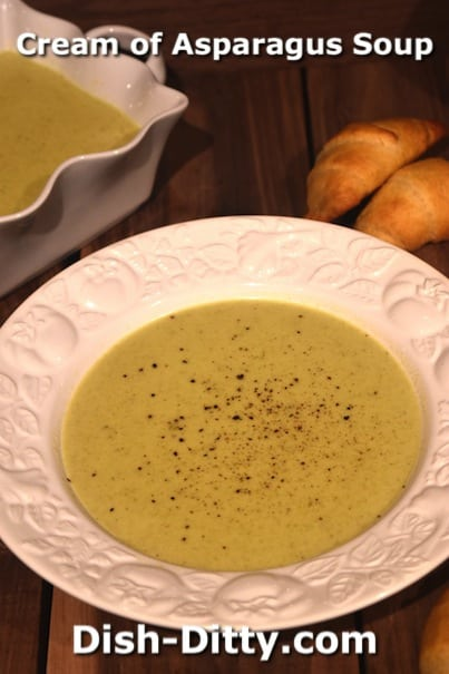 Cream of Asparagus Soup by Dish Ditty Recipes