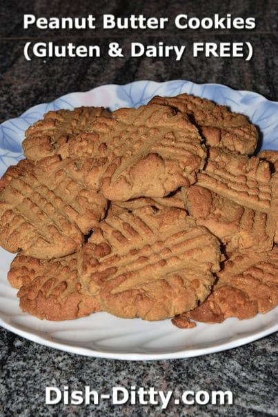Healthy Peanut Butter Cookies (Gluten & Dairy Free) by Dish Ditty Recipes