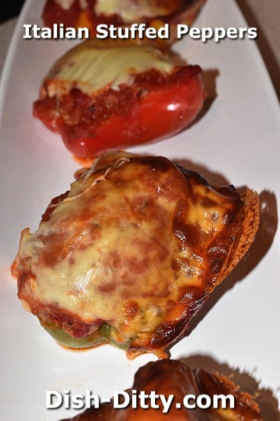 Italian Sausage Stuffed Peppers by Dish Ditty Recipes