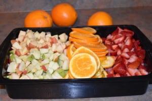 Chop up fruit