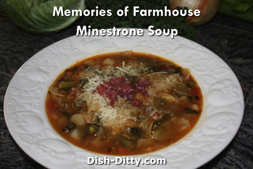 Memories of Farmhouse Minestrone Soup Recipe by Dish Ditty Recipes