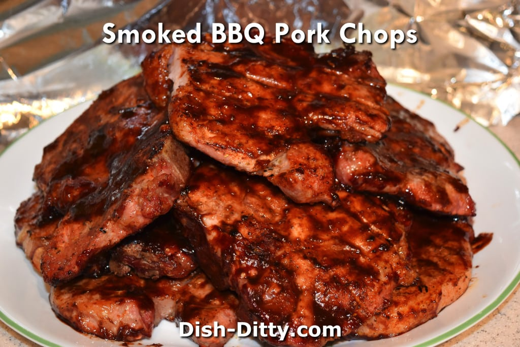 Smoked BBQ Pork Chops Recipe by Dish Ditty Recipes