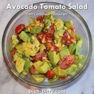 Avocado Tomato Salad (from Lemonade Restaurant)