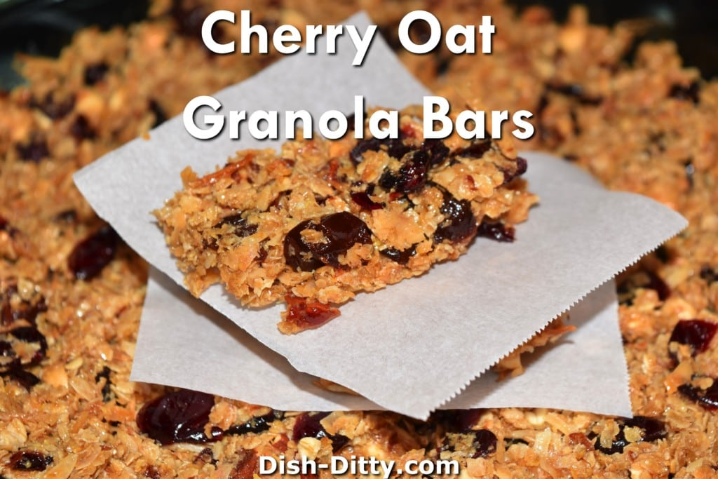 Cherry Oat Granola Bars Recipe by Dish Ditty Recipes