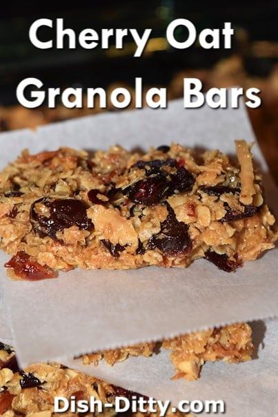 Cherry Oat Granola Bars Recipe by Dish Ditty Recipes