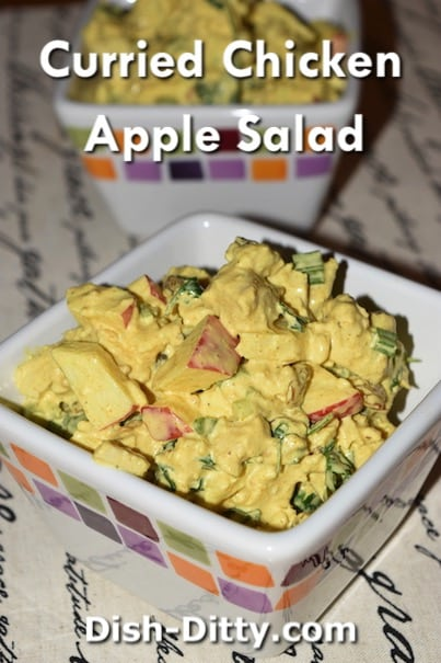 Curried Chicken Apple Salad Recipe by Dish Ditty Recipes