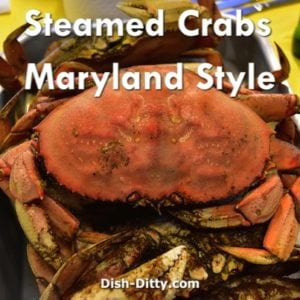 Maryland Style Steamed Crab