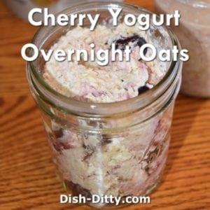 Tart Cherry & Yogurt Overnight Oats