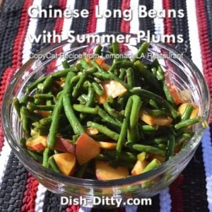Chinese Long Beans with Summer Plums Salad