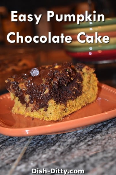 Easy Pumpkin Chocolate Cake Recipe by Dish Ditty Recipes