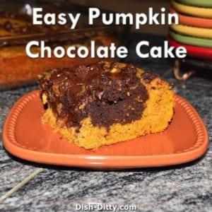Easy Pumpkin Chocolate Cake
