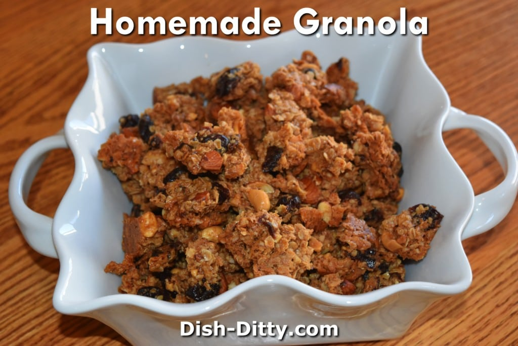 Homemade Granola Recipe by Dish Ditty Recipes