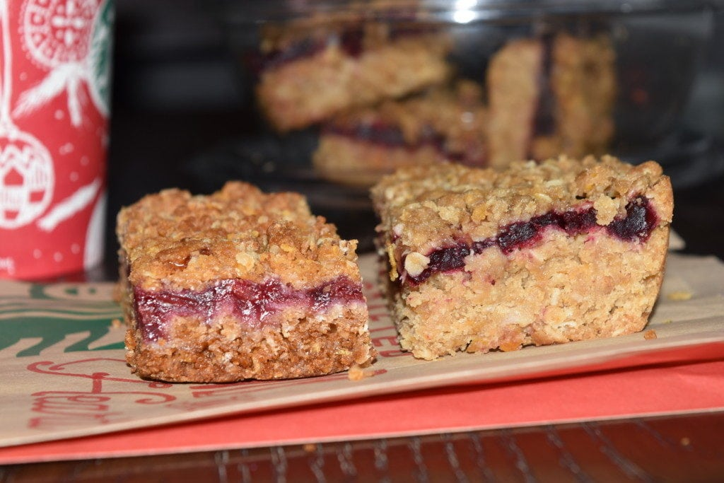 Dark Cherry Oat Bars Recipe by Dish Ditty Recipes