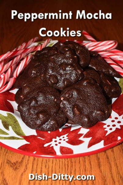 Peppermint Mocha Cookies Recipe by Dish Ditty Recipe