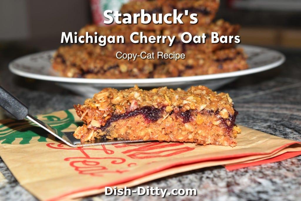 Starbuck's Michigan Cherry Oat Bars Copy Cat Recipe by Dish Ditty Recipes