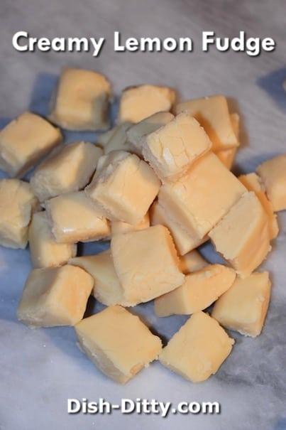 Creamy Lemon Fudge by Dish Ditty Recipes