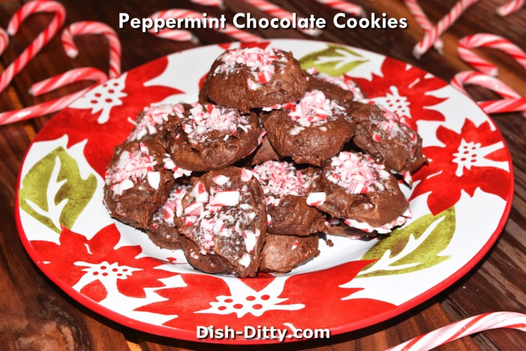 Peppermint Chocolate Cookies Recipe by Dish Ditty Recipes