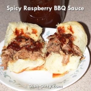 Spicy Raspberry BBQ Sauce