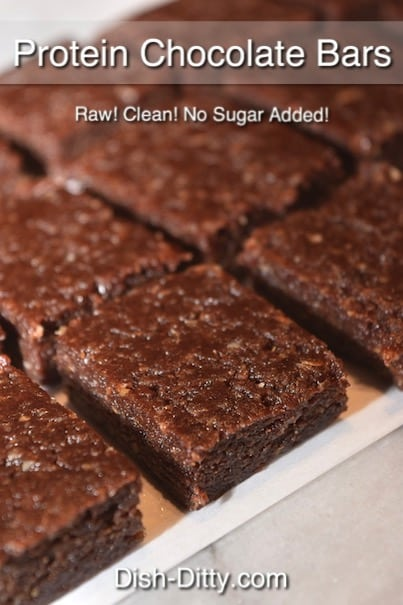 Healthy Raw Protein Chocolate Bars Recipe by Dish Ditty Recipes