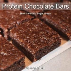 Healthy Raw Protein Chocolate Bars