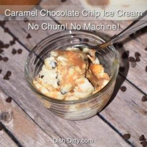 Easy Caramel Chocolate Chip Ice Cream (No Churn)