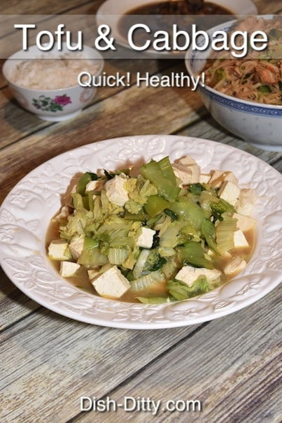 Quick Tofu & Cabbage Stir Fry Recipe by Dish Ditty Recipes