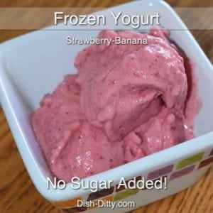 Strawberry Banana Soft Serve Frozen Yogurt