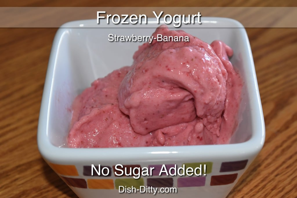 Strawberry Banana Soft Serve Frozen Yogurt Recipe by Dish Ditty Recipes