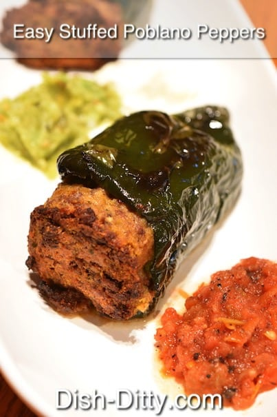 Easy Stuffed Poblano Peppers Recipe by Dish Ditty Recipes